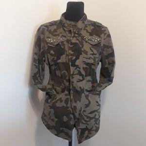 Jackets & Blazers - Camo Drawstring Jacket